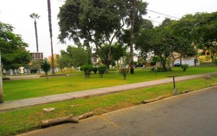 Frente a parque