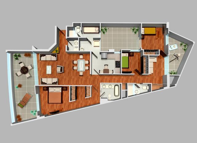 Departamento en san borja de estreno 3 dormitorios Departamento 3 habitaciones