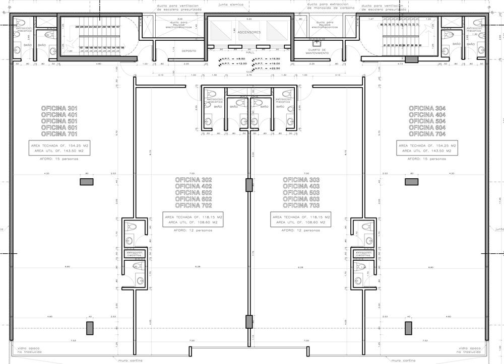 Empresarial benavides precios y planos oficinas for Planos de oficinas