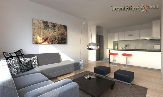 Departamento de 1 dormitorio en san miguel proyecto berlin 36 for Sala comedor kitchenette