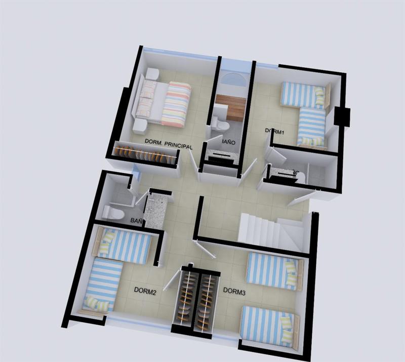 Proyecto las palmeras de bocapan flats duplex y casas en for Planos para segundo piso