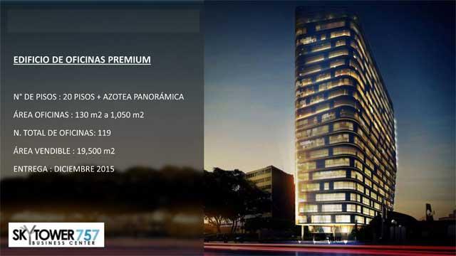 Proyecto de oficinas Sky Tower Javier Prado Oeste 757 en Magdalena
